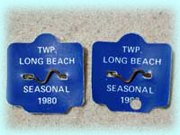 1980 Beach Badges